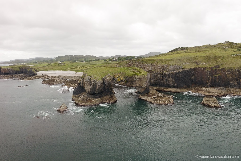 Drone photo Great Pollet Sea Arch