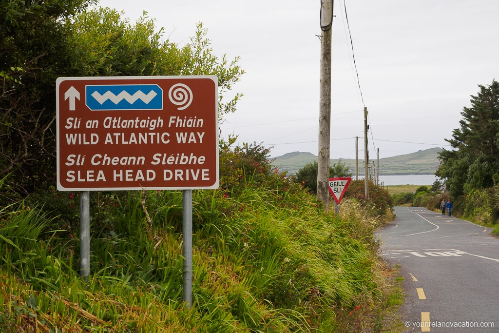 Slea Head Drive Sign Dingle